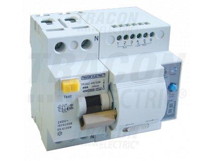 Prúdový chránič s funkciou automatického znovuzapnutia, 2P 80A, 100mA, 10kA, A / AC