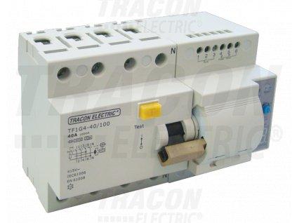 Prúdový chránič s funkciou automatického znovuzapnutia, 4P 80A, 100mA, 10kA, A / AC