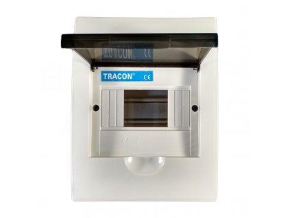 Rozvodná skriňa 1x6 modulová podomietková priehľadné dymové dvere IP40 EDS6/1 Tracon