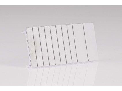 Plastová záslepka modulov k rozvodným skriniam L=108mm, 1×6 mod.(2×1mod.+8×1/2mod.)