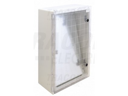 Rozvodná skriňa plastová, s priehľad. dvier. H×W×D=700×500×245mm, IP65, IK08, 1000V AC/DC, RAL7035