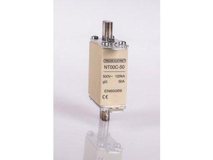 Nožová poistka 10A 500V AC gG NT00-10