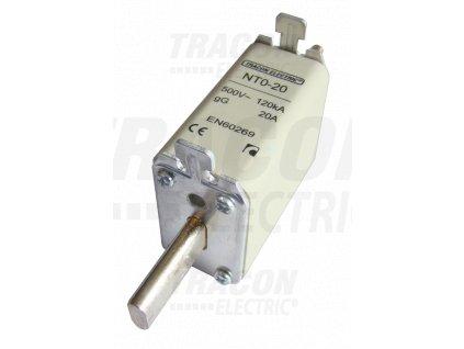 Nožová poistka 10A 500V AC aM NT0-10