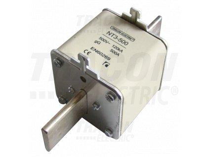Nožová poistka 425A 500V AC aM NT3-425