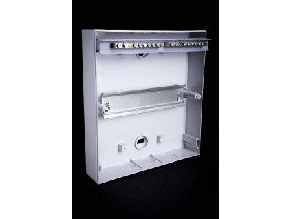 Rozvodná skriňa 1x18 modulová nadomietková priehľadné dymové dvere IP40 EDFK18/1 Tracon