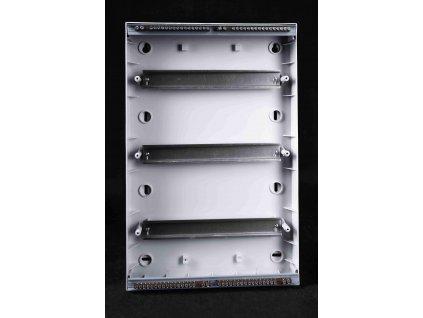 Rozvodná skriňa 36 modulová (3x12) nadomietková priehľadné dymové dvere IP40 EDFK12/3