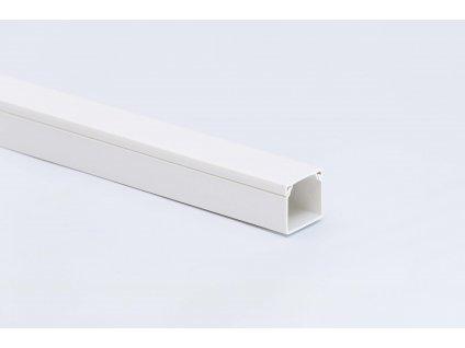 Lišta biela na káble 15x10mm 2m PVC