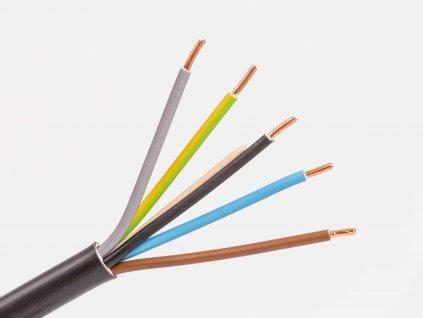 Medený kábel cyky-j 5x1,5 žily