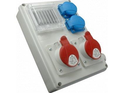 Rozvodnica zásuvková s možnosťou istenia 5P ROS-I 1603A 1x32A/400v+1x16A/400V+2x230V SEZ DK