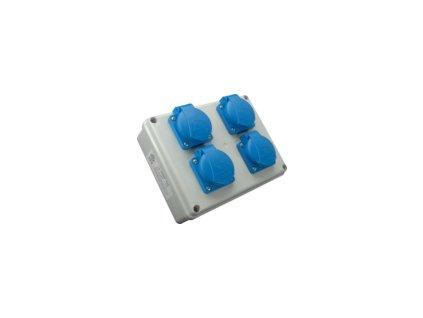 Rozvodnica zásuvková ROSP 4VZ 4x230V SEZ DK