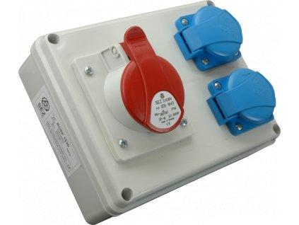 Rozvodnica zásuvková 5P ROSP 1631 1x16A/400V+2x230V SEZ DK