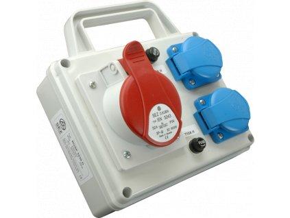 Rozvodnica zásuvková 5P ROSP 3231D 1x32A/400V+2x230V s držiakom SEZ DK