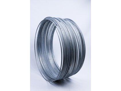 Bleskozvodový drôt guľatina ø8mm FeZn 1kg=cca 2,5m
