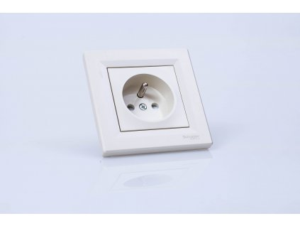 1-zásuvka Asfora krémová EPH2800223