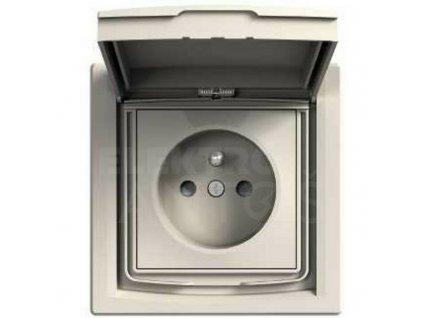 1-zásuvka Asfora IP44 béžová EPH2800323 Schneider