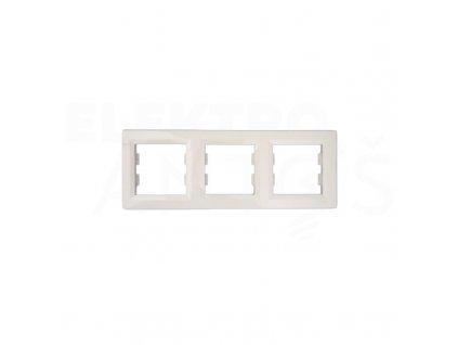 3-rámček Asfora vodorovný béžový EPH5800323 Schneider