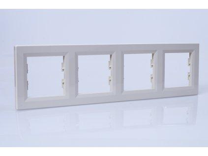 4-rámček Asfora vodorovný krémový EPH5800423