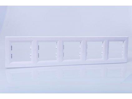 5-rámček Asfora vodorovný biely EPH5800521