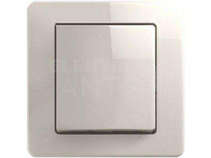 Vypínač č.1 TEM EKONOMIK krémový lesklý SE10IW-B