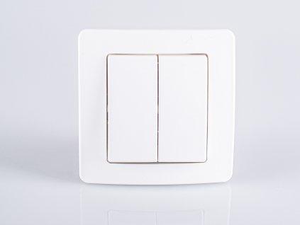 Vypínač č.5 TEM EKONOMIK lesklý biely SE50PW-U
