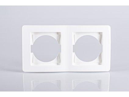 2-rámček TEM EKONOMIK vodorovný lesklý biely OE20PW-U
