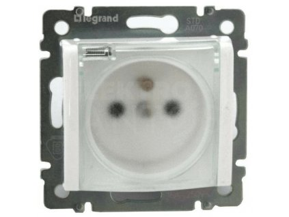 1-zásuvka VALENA IP44 s priehľadným krytom biela 774221 Legrand