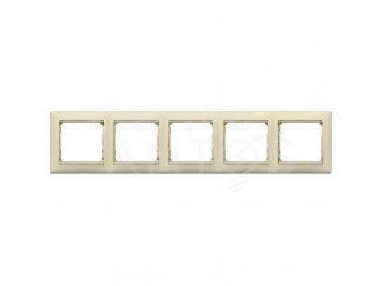 5-rámček VALENA vodorovný krémový 774355 Legrand