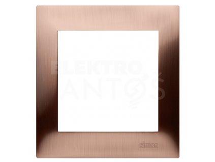 1-rámček Simon54 PREMIUM rustikálny medený kovový DR1/36