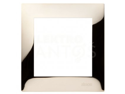 1-rámček Simon54 PREMIUM zlatý kovový DR1/66