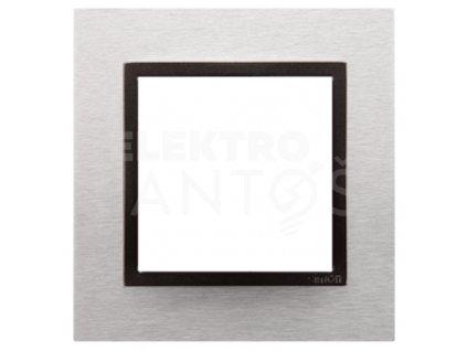 1-rámček Simon54 NATURE svetlý nerez/antracit kovový DRN1/76