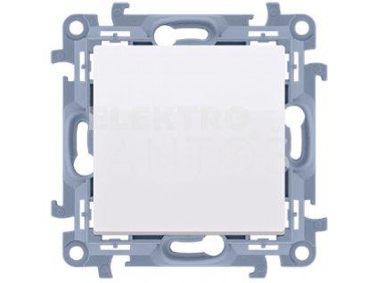 Vypínač Simon10 jednopólový č.1-biely lesklý CW1.01/11 Kontakt Simon