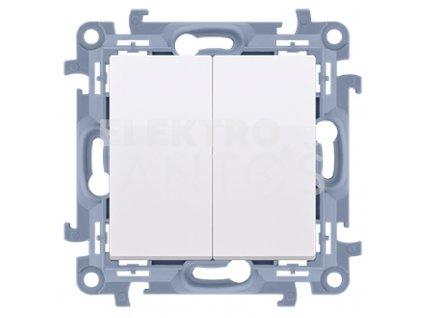 Vypínač č.5B Simon10 biely lesklý CW5B.01/11