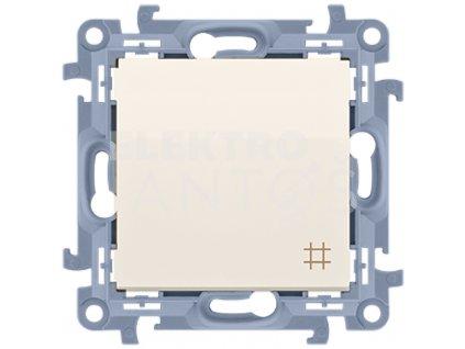 Vypínač č.7 Simon10 krémový lesklý CW7.01/41