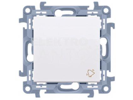 Zvončekové tlačidlo Simon10 biele lesklé CD1.01/11