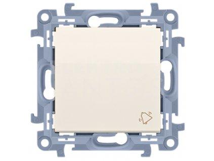 Zvončekové tlačidlo Simon10 krémové lesklé CD1.01/41