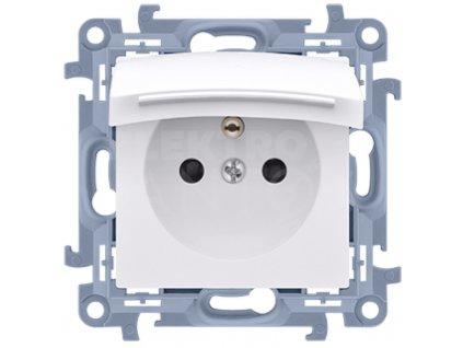 1-zásuvka Simon10 IP44 biela CGZ1B.01/11