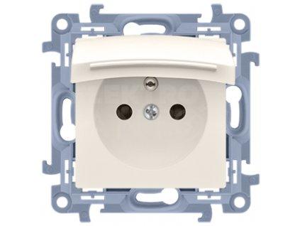 Zásuvka Simon10 jednoduchá IP44 s krytkou, béžová CGZ1B.01/41 Kontakt Simon