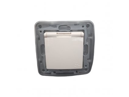 1-zásuvka NILOE IP44 béžová 764648 Legrand bez rámčeka