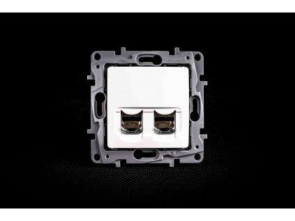 Dátová dvojzásuvka NILOE 2xRJ45 Cat.6e UTP biela 764574 Legrand