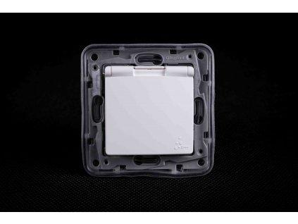 1-zásuvka NILOE IP44 biela 764548 Legrand bez rámčeka