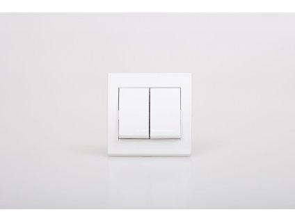 Vypínač ANYA sériový č.5B biely