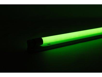 Zelená trubica LED 20W 120cm obojstranné napájanie AN23 zasvietená