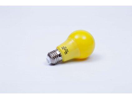 Oranžová LED žiarovka 7W E27 6500K AN93