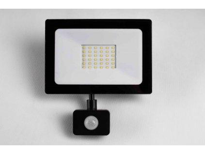 Reflektor SMD LED 30W so senzorom PIR čierny - 4500K 0700