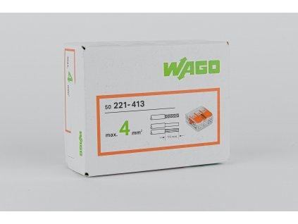 Oranžová wago krabicová svorka na káble otvárateľná 3x