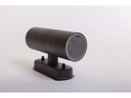 Dvojité nástenné svietidlo okrúhle ELOR 2xGU10 IP44 čierne 0993