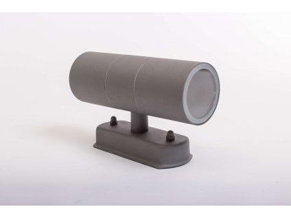 Dvojité nástenné svietidlo ELOR 2xGU10 IP44 sivé 0946