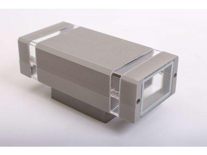 Dvojité nástenné svietidlo HANA hranaté 2xGU10 IP54 sivé 1251 LVT