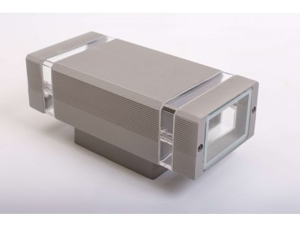 Dvojité nástenné svietidlo HANA hranaté 2xGU10 IP54 sivé 1251