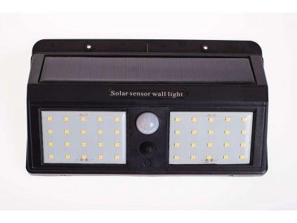 Solárne svietidlo 1,2W IP65 so senzorom čierne 3 programy PL0602